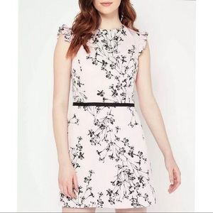 2214 Miss Selfridge pink floral dress